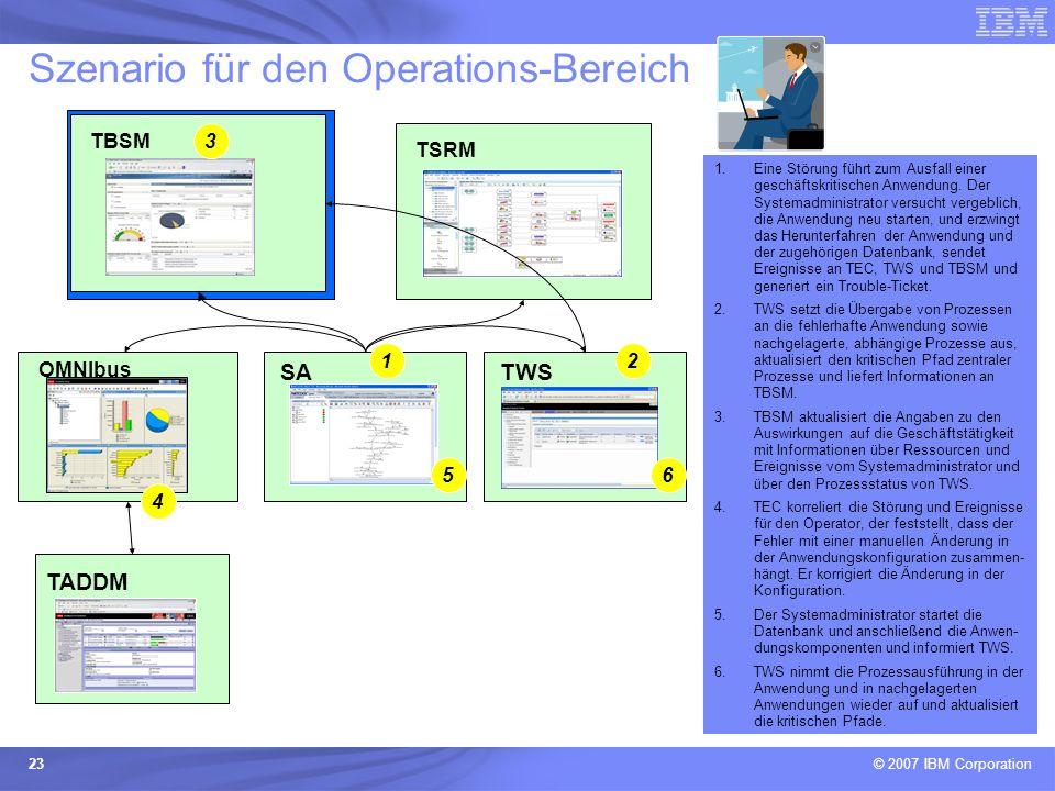 Szenario für den Operations-Bereich