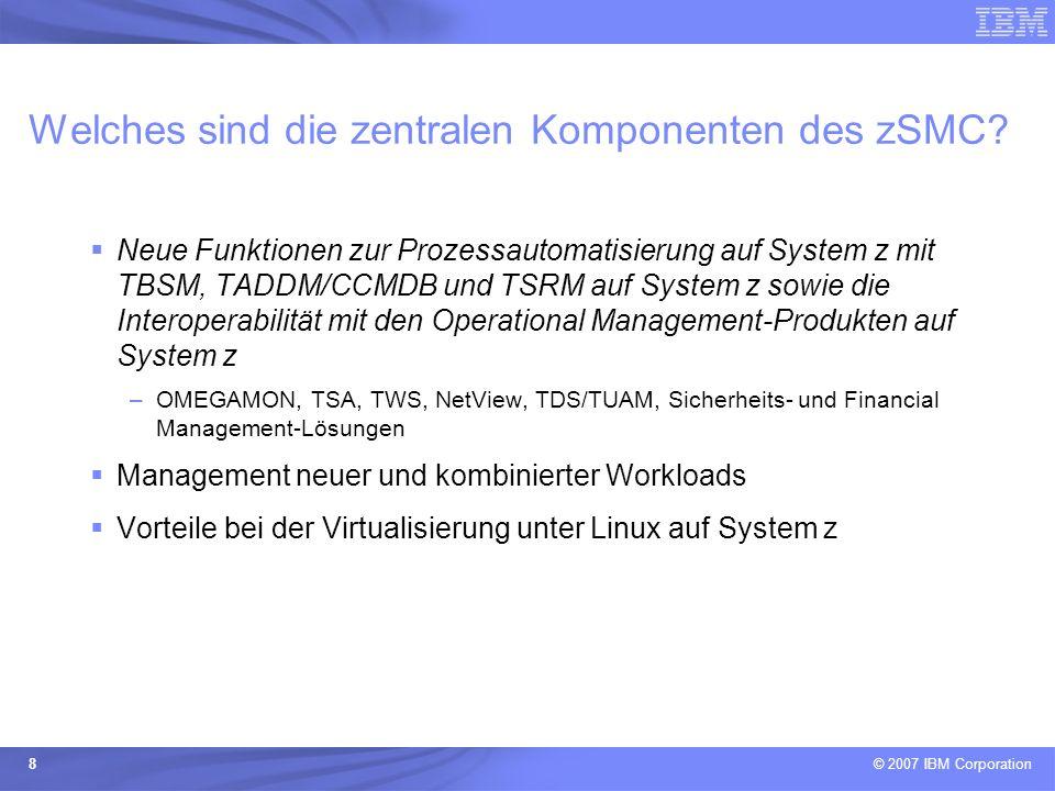 Welches sind die zentralen Komponenten des zSMC