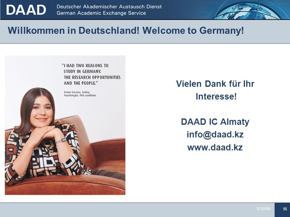 Willkommen in Deutschland! Welcome to Germany!