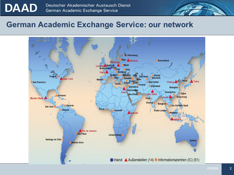 German Academic Exchange Service: our network