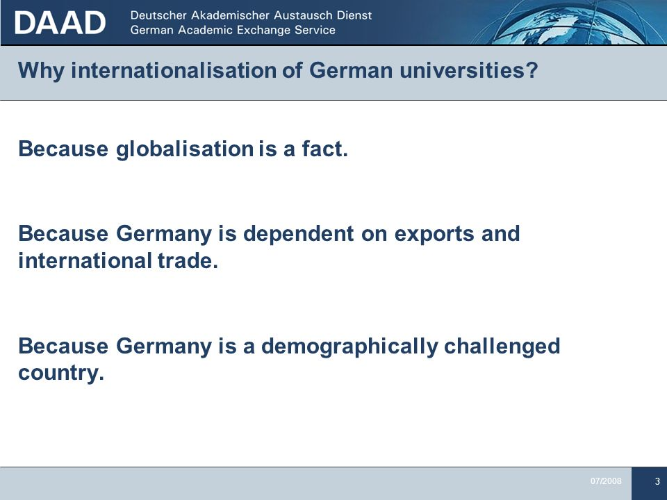 Why internationalisation of German universities
