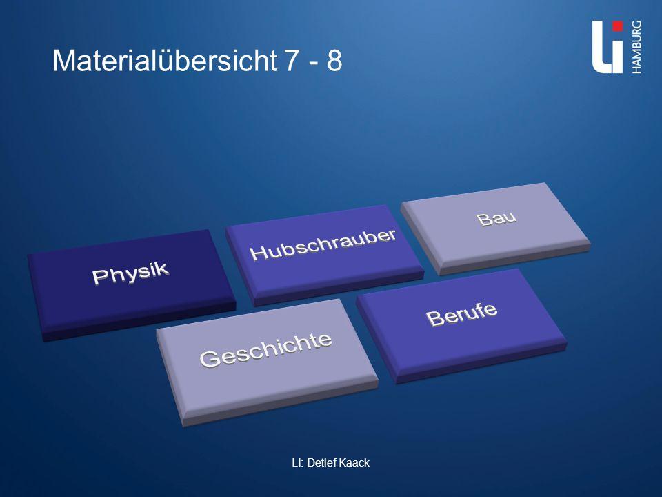 Materialübersicht 7 - 8 LI: Detlef Kaack Physik Hubschrauber Bau