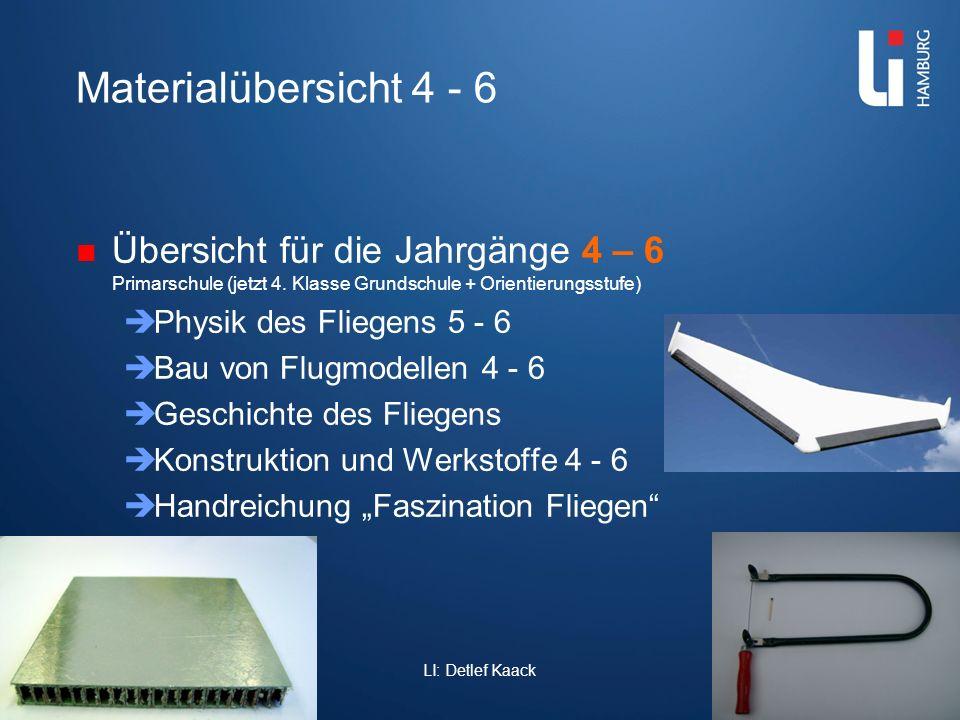 Materialübersicht 4 - 6 Übersicht für die Jahrgänge 4 – 6 Primarschule (jetzt 4. Klasse Grundschule + Orientierungsstufe)