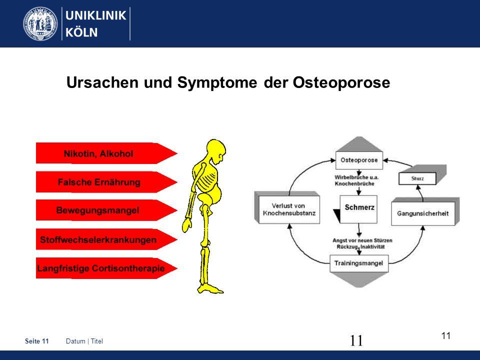 Ursachen und Symptome der Osteoporose