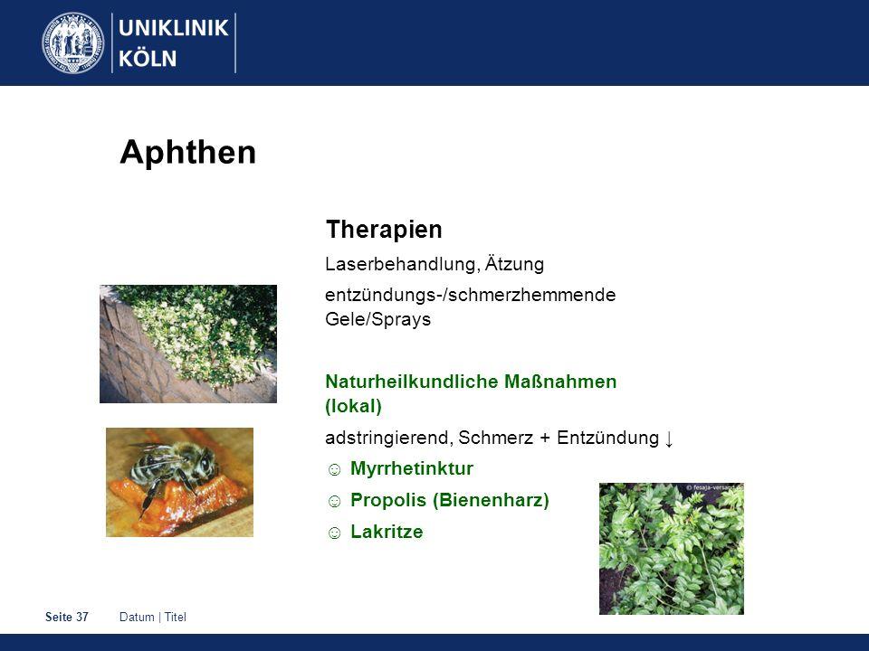 Aphthen Therapien Laserbehandlung, Ätzung