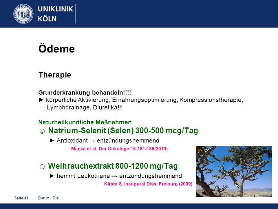 Ödeme Therapie Grunderkrankung behandeln