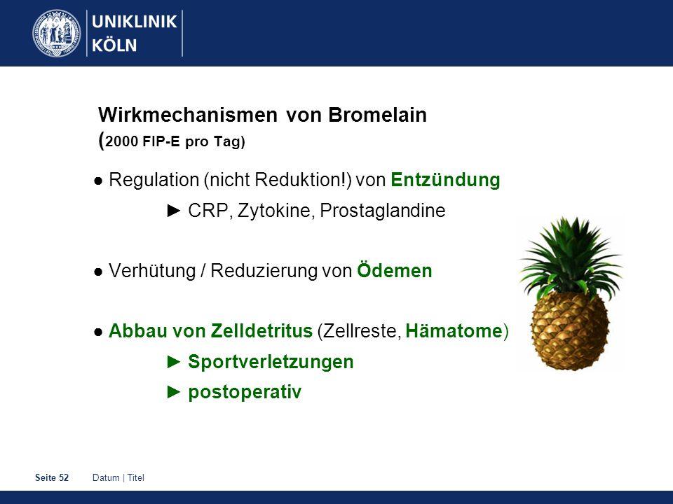 Wirkmechanismen von Bromelain (2000 FIP-E pro Tag)