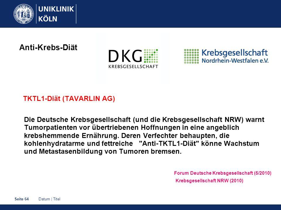 Anti-Krebs-Diät TKTL1-Diät (TAVARLIN AG)