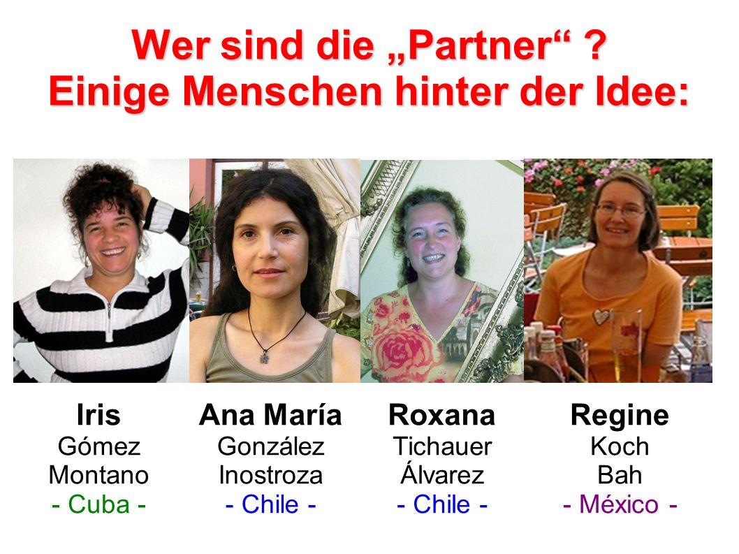 """Wer sind die """"Partner Einige Menschen hinter der Idee:"""