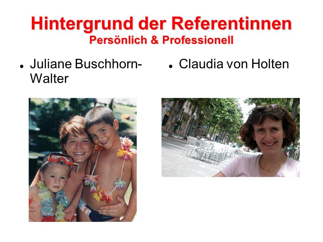 Hintergrund der Referentinnen Persönlich & Professionell