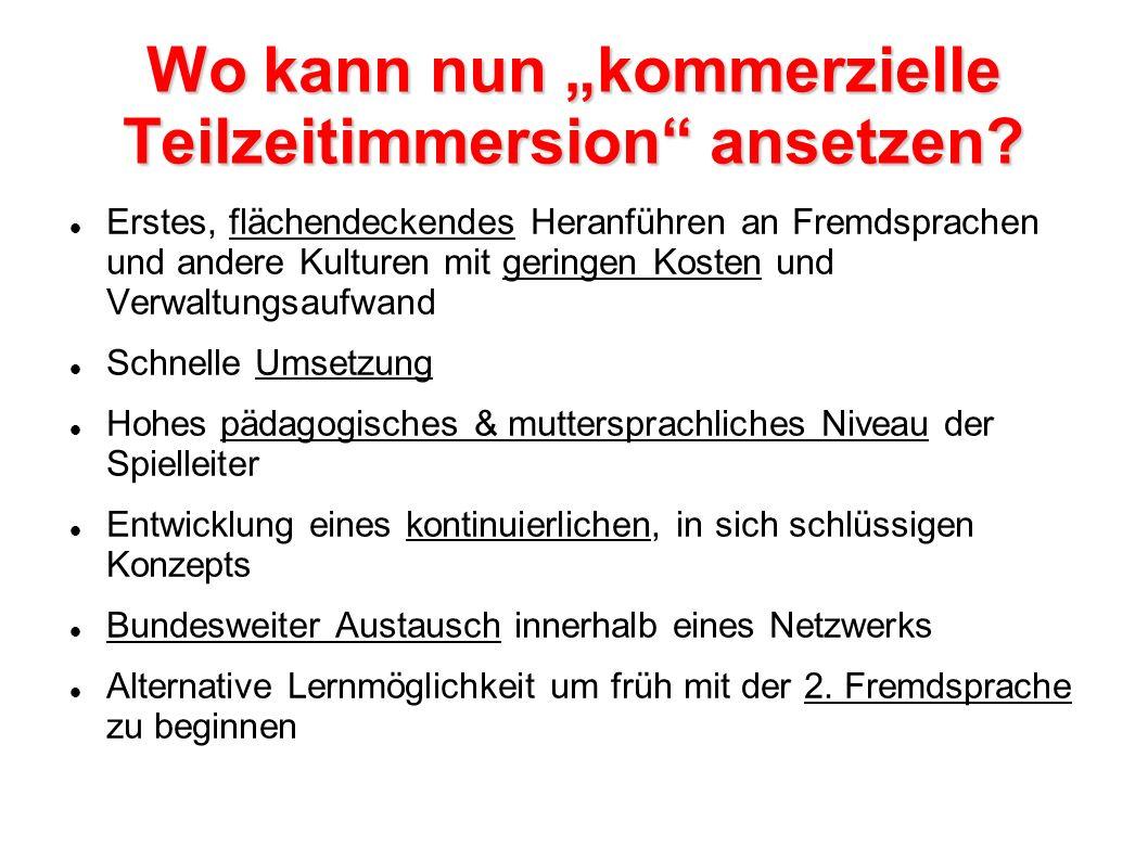 "Wo kann nun ""kommerzielle Teilzeitimmersion ansetzen"