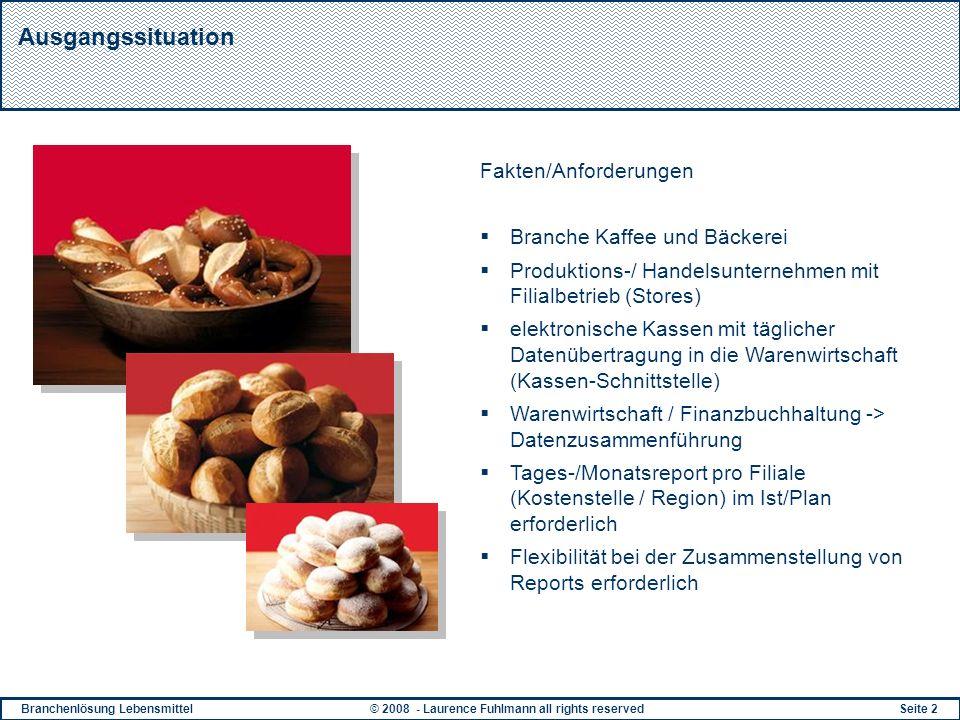 Ausgangssituation Fakten/Anforderungen Branche Kaffee und Bäckerei