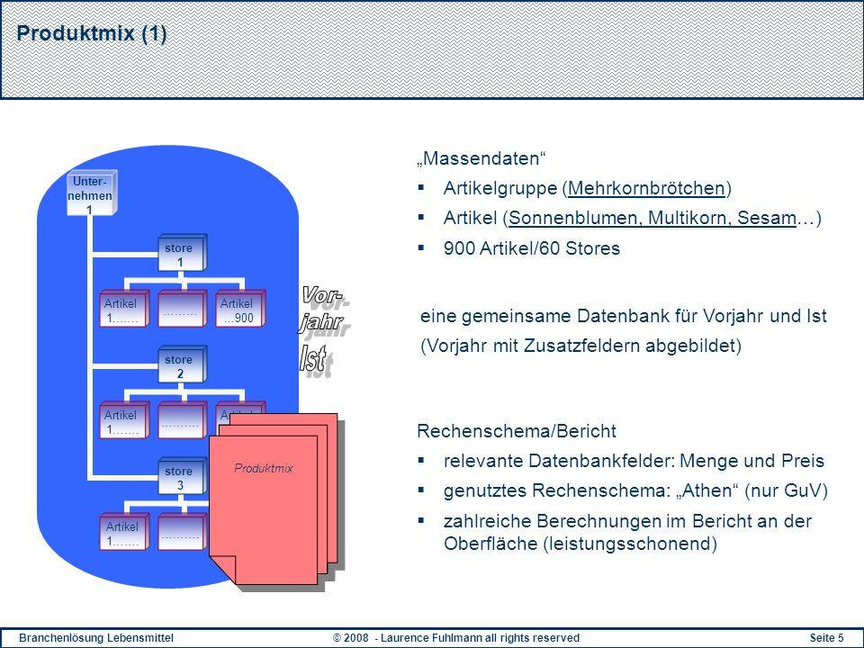 """Vor- jahr Ist Produktmix (1) """"Massendaten"""