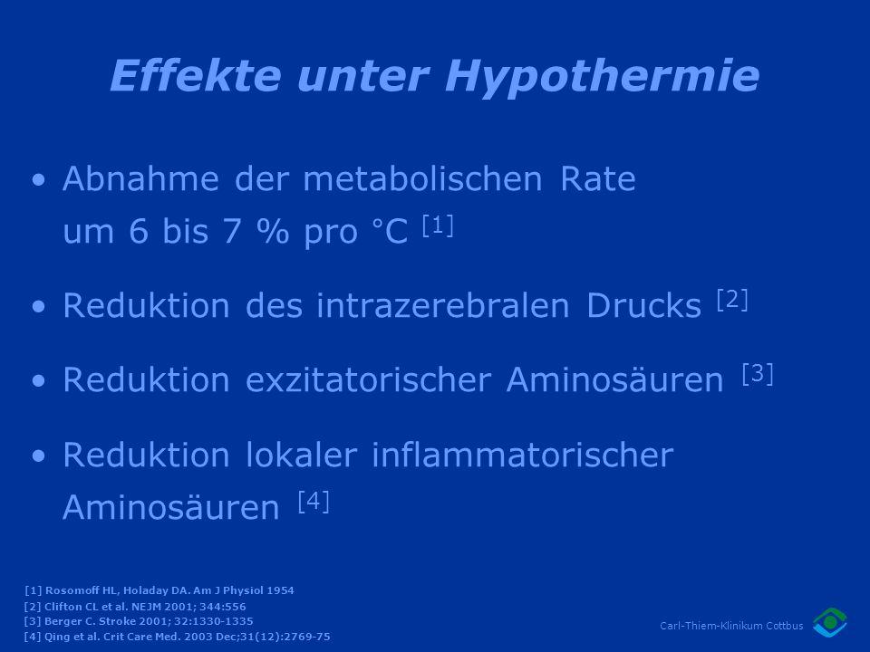 Effekte unter Hypothermie