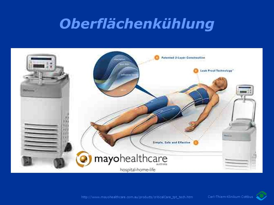 Oberflächenkühlung http://www.mayohealthcare.com.au/products/criticalCare_tpt_tech.htm