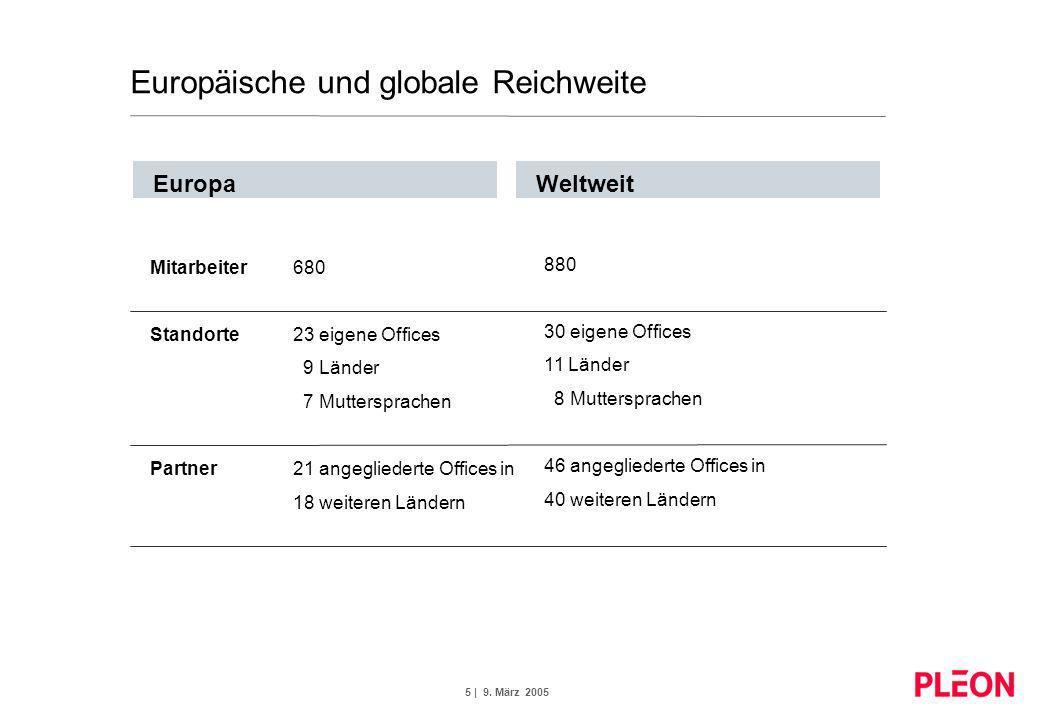 Europäische und globale Reichweite
