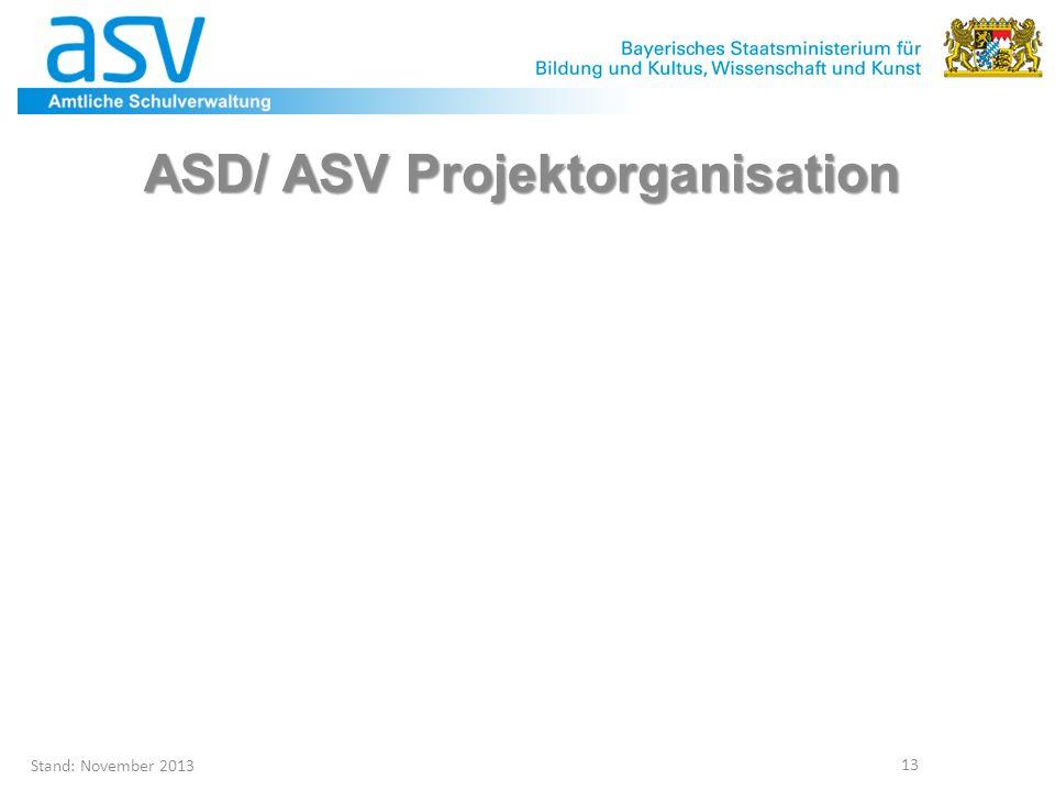 ASD/ ASV Projektorganisation