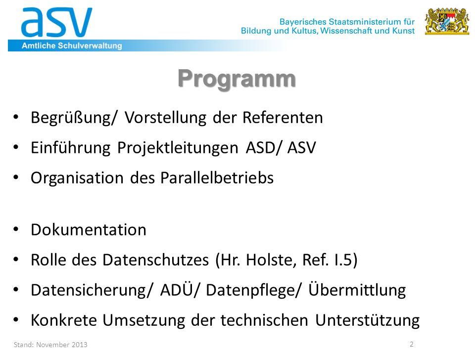 Programm Begrüßung/ Vorstellung der Referenten