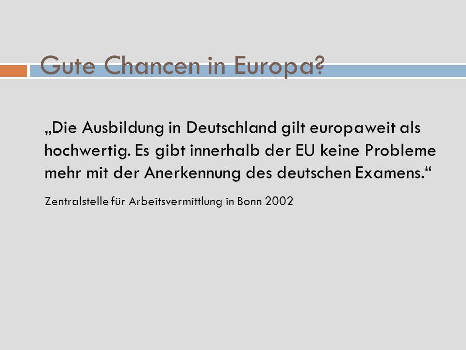 Gute Chancen in Europa