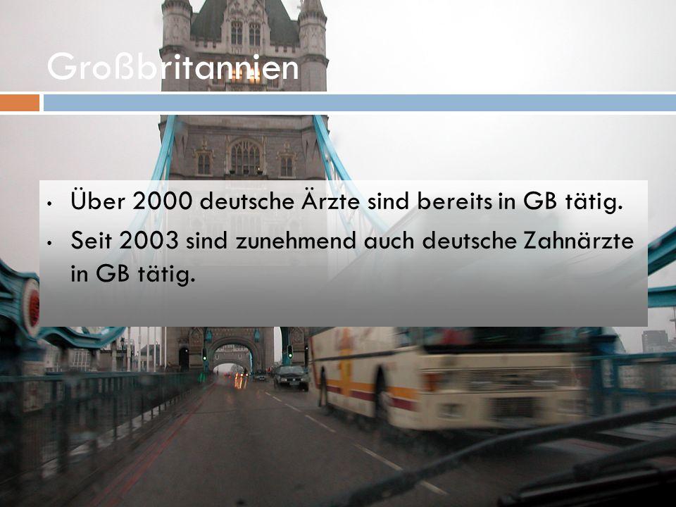 Großbritannien Über 2000 deutsche Ärzte sind bereits in GB tätig.