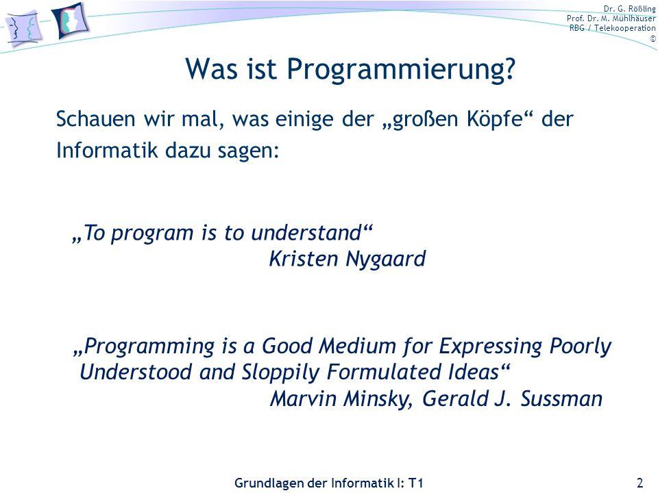 Was ist Programmierung