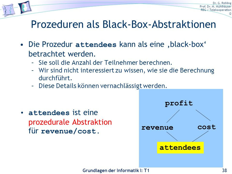 Prozeduren als Black-Box-Abstraktionen