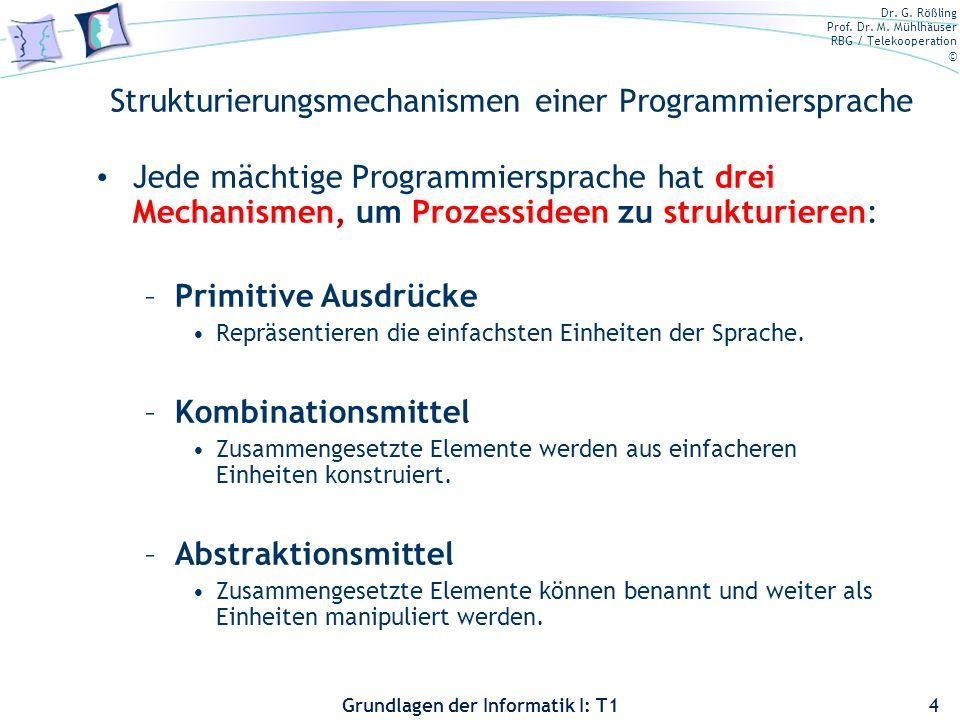 Strukturierungsmechanismen einer Programmiersprache