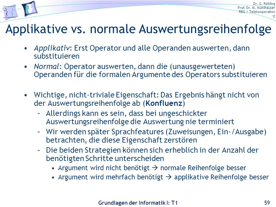 Applikative vs. normale Auswertungsreihenfolge