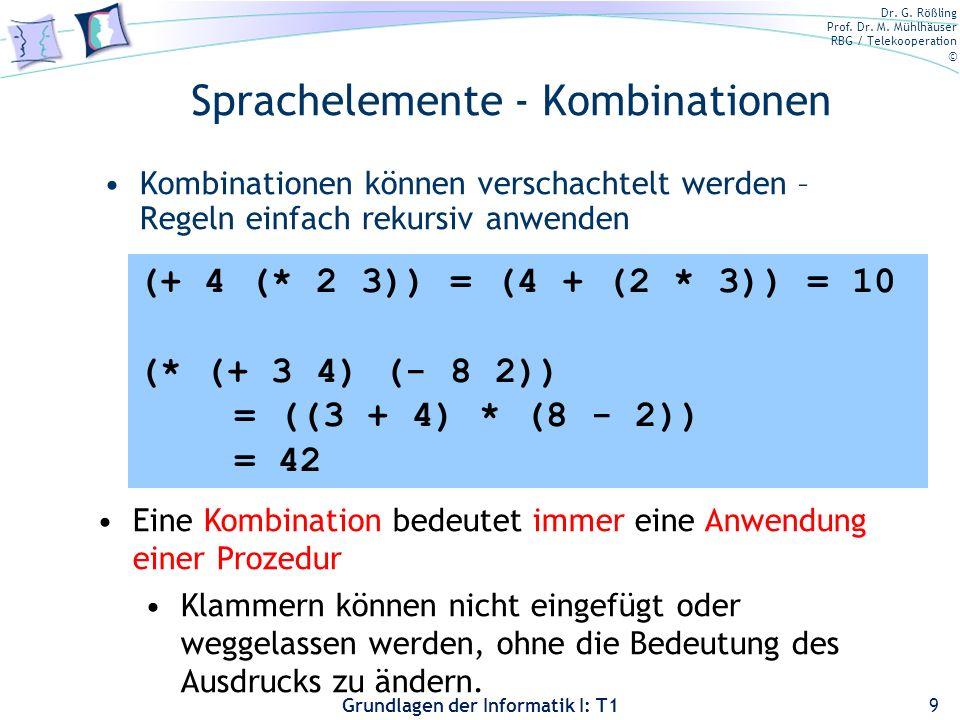 Sprachelemente - Kombinationen