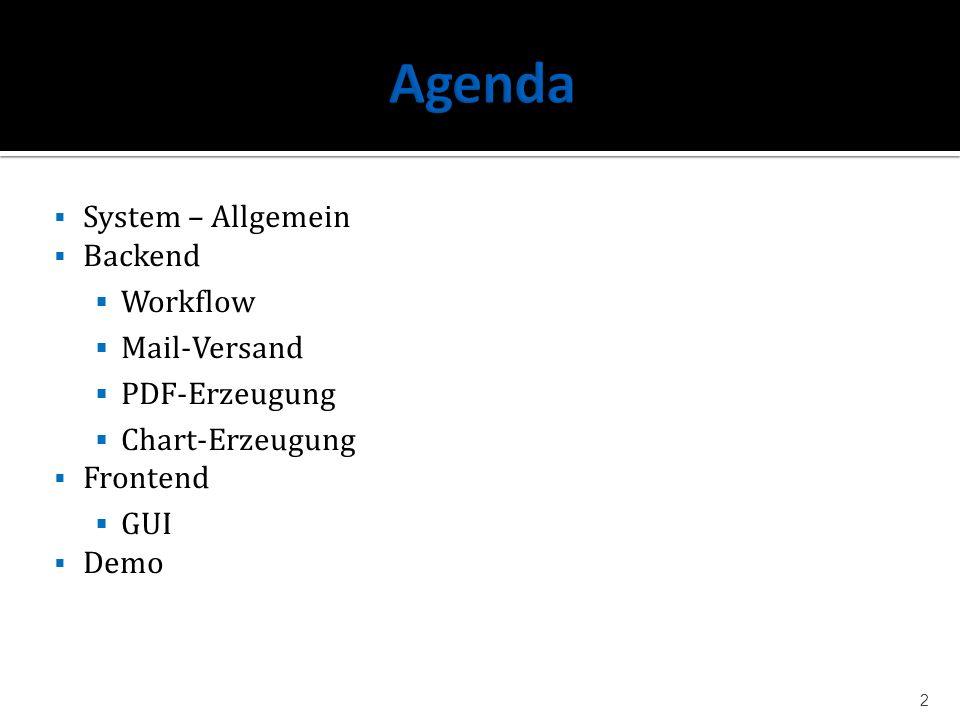 Agenda System – Allgemein Backend Workflow Mail-Versand PDF-Erzeugung