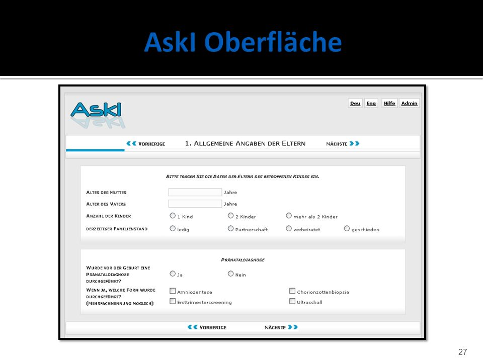AskI Oberfläche Navi Progressbar Frage-abschnitte I18n-buttons
