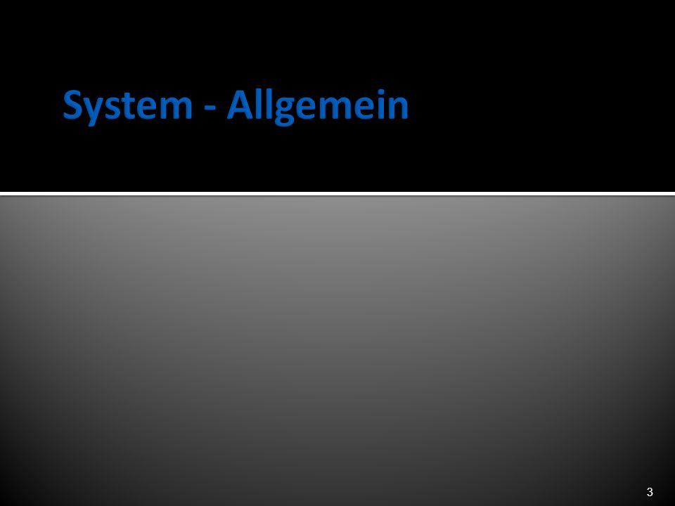 System - Allgemein