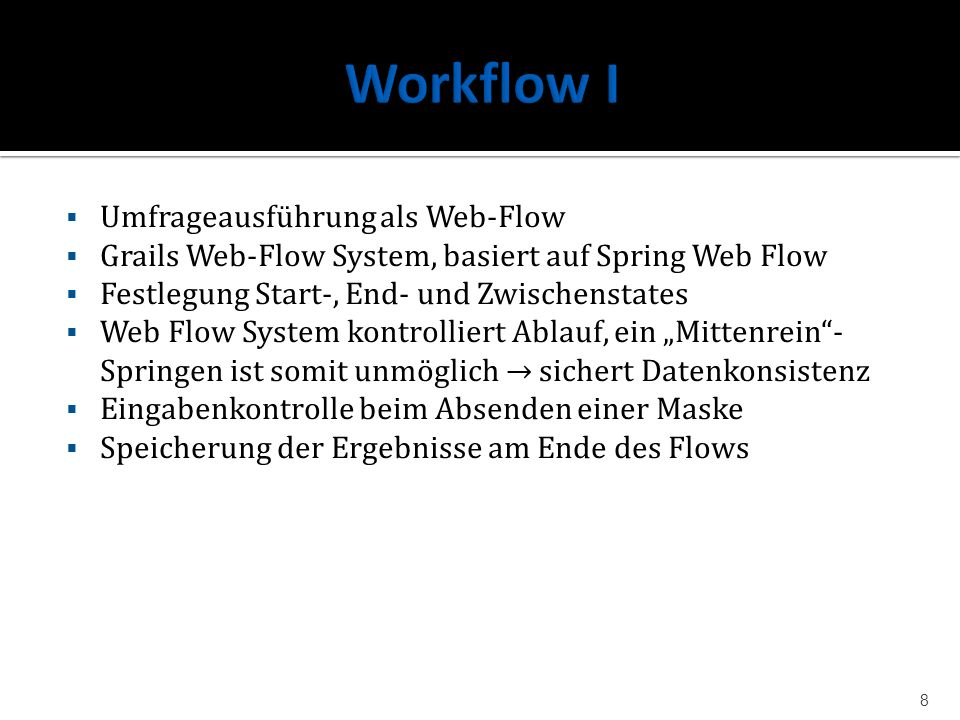 Workflow I Umfrageausführung als Web-Flow