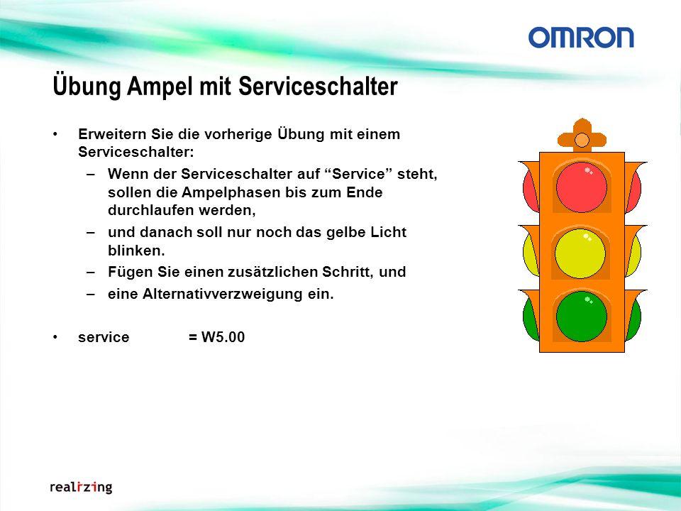 Übung Ampel mit Serviceschalter
