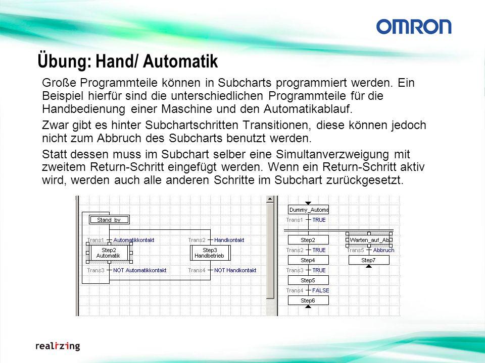 Übung: Hand/ Automatik