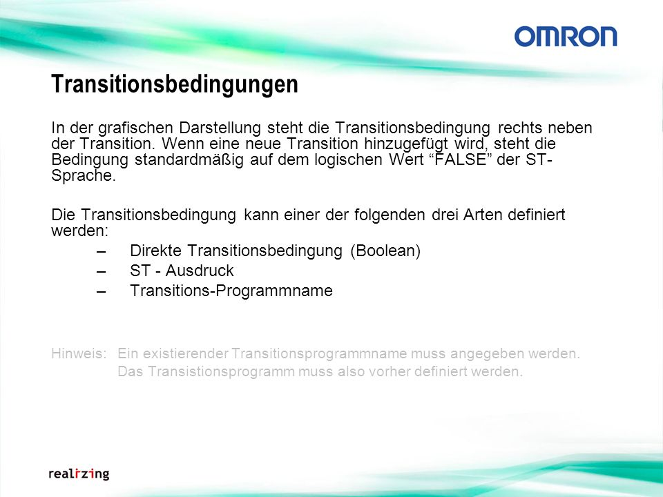 Transitionsbedingungen