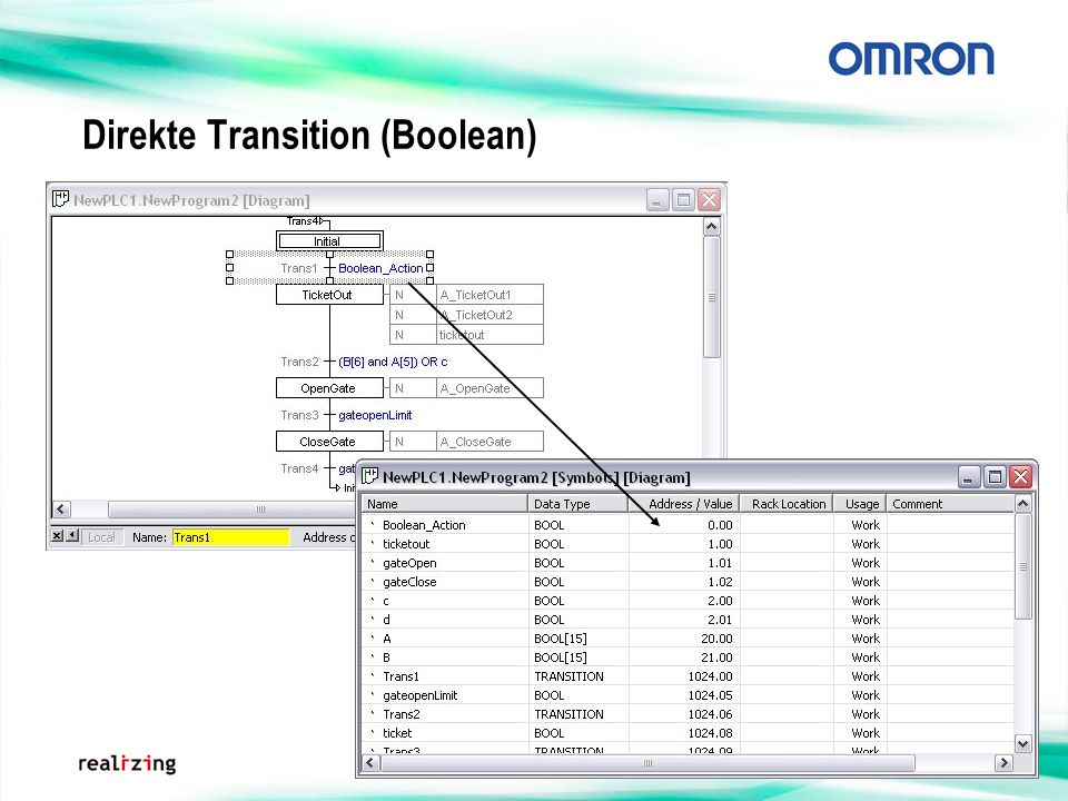 Direkte Transition (Boolean)