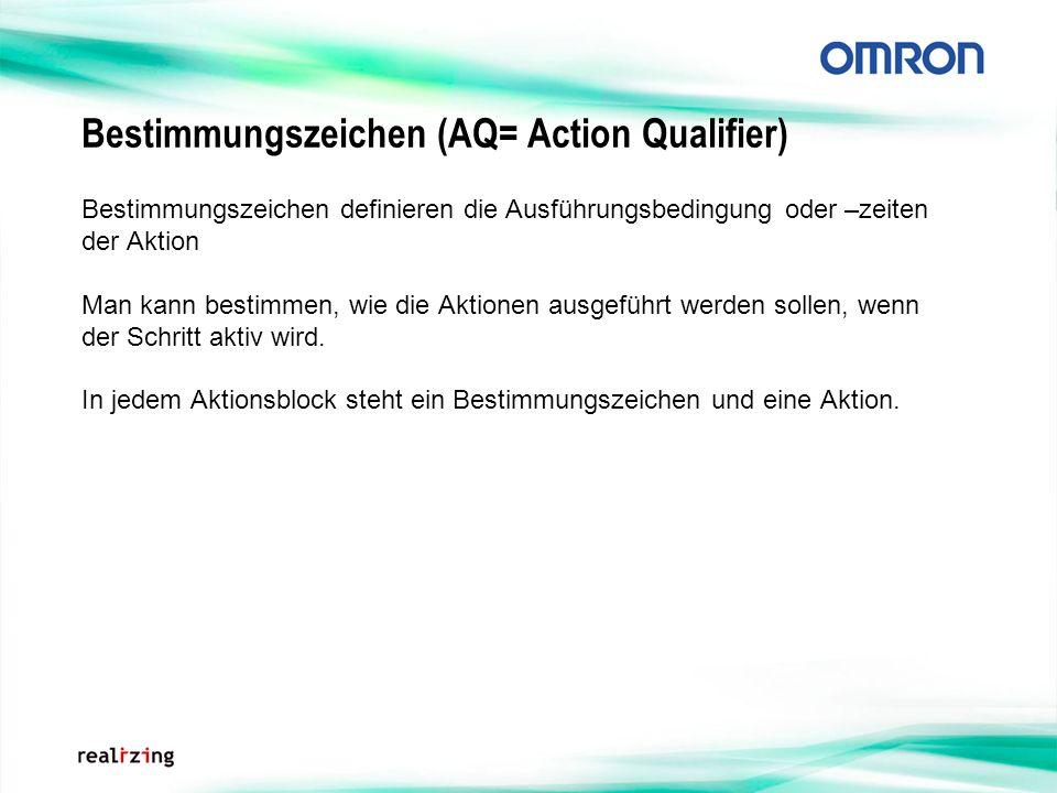 Bestimmungszeichen (AQ= Action Qualifier)
