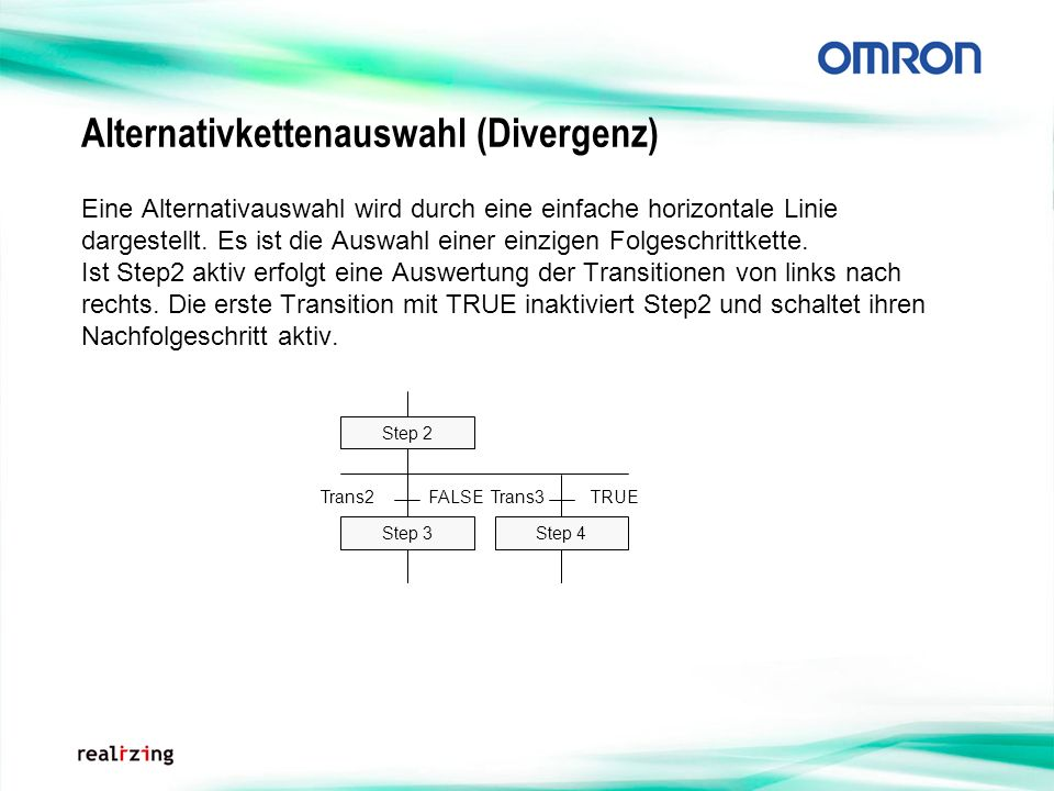 Alternativkettenauswahl (Divergenz)