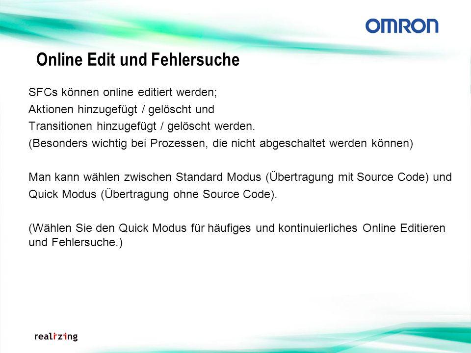 Online Edit und Fehlersuche