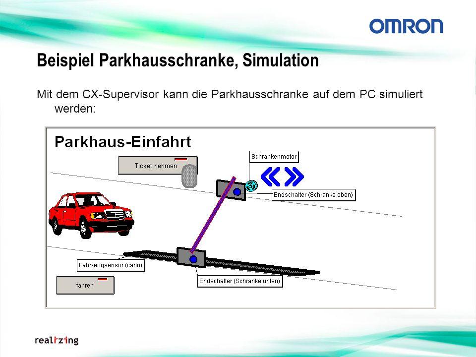 Beispiel Parkhausschranke, Simulation