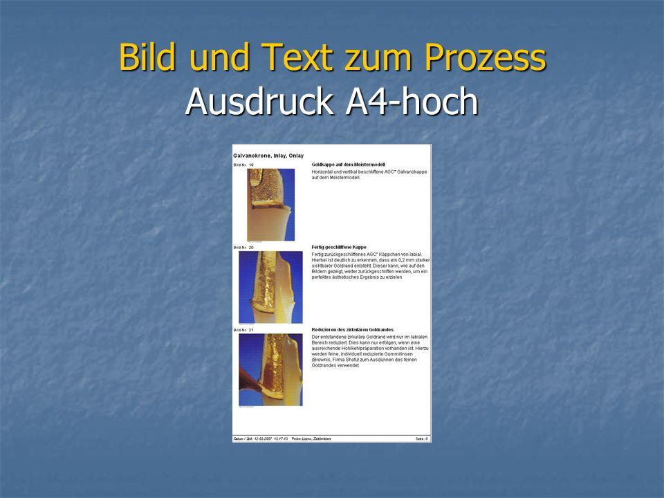 Bild und Text zum Prozess Ausdruck A4-hoch