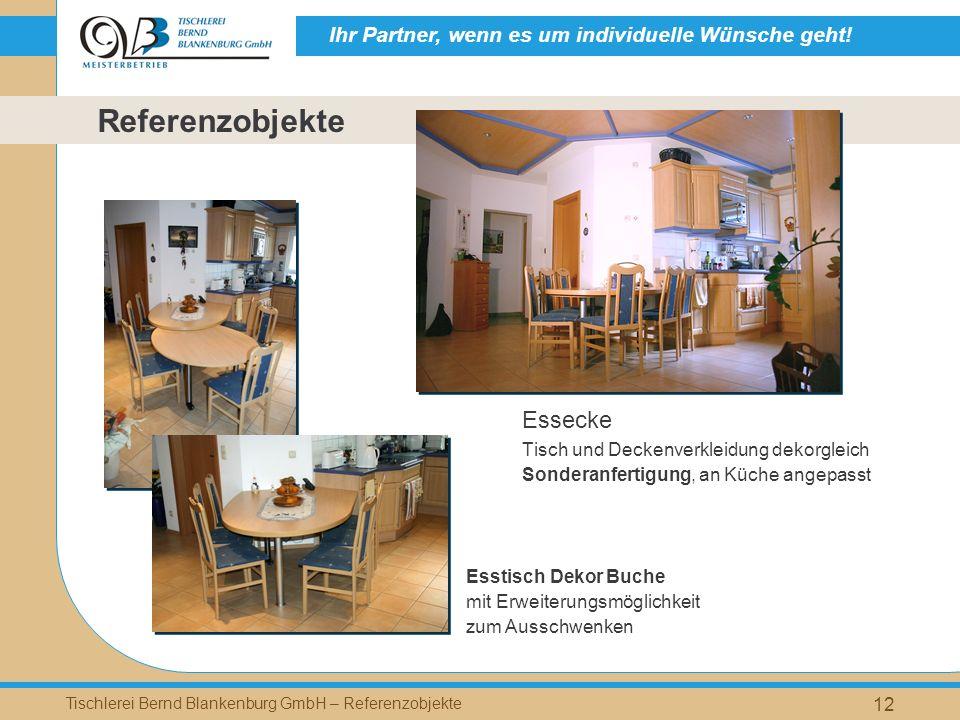 Referenzobjekte Essecke Tisch und Deckenverkleidung dekorgleich