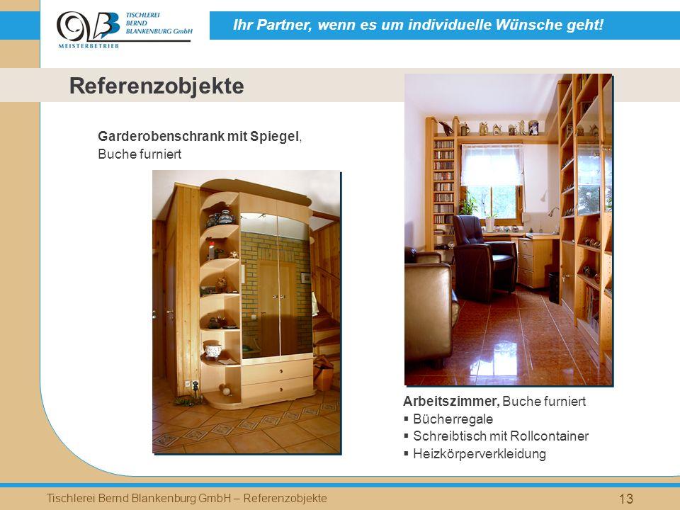 Referenzobjekte Garderobenschrank mit Spiegel, Buche furniert