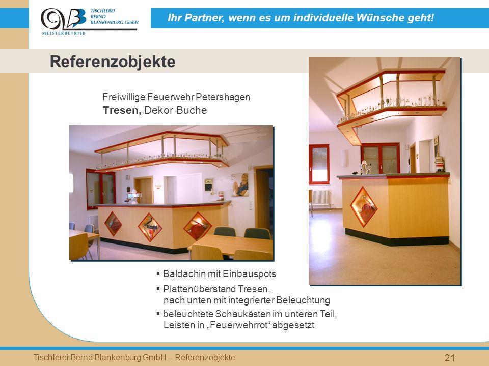 Referenzobjekte Tresen, Dekor Buche Freiwillige Feuerwehr Petershagen