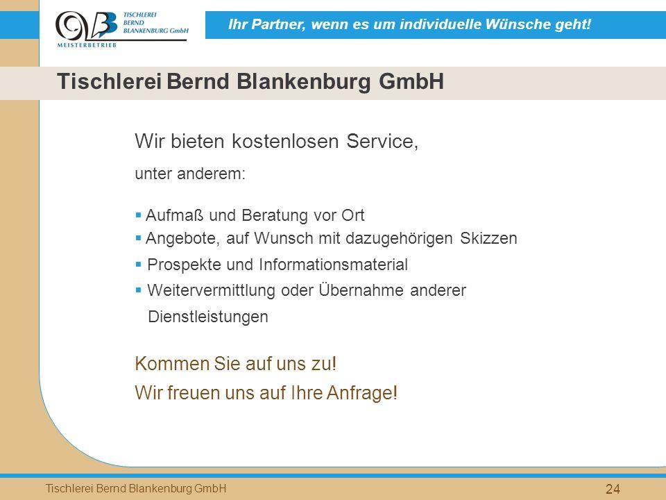 Tischlerei Bernd Blankenburg GmbH