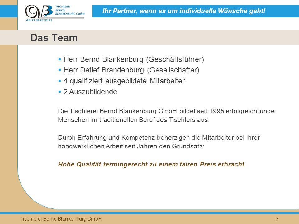 Das Team Herr Bernd Blankenburg (Geschäftsführer)
