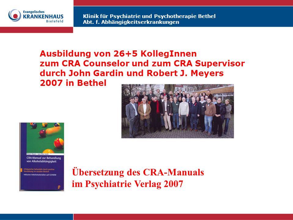 Übersetzung des CRA-Manuals im Psychiatrie Verlag 2007