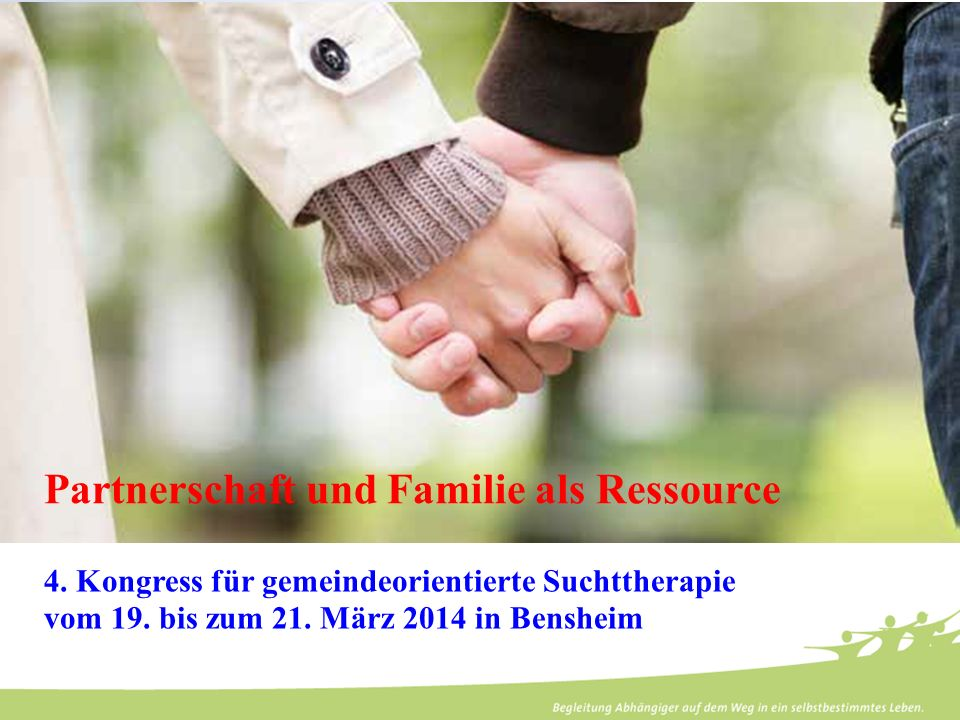Partnerschaft und Familie als Ressource