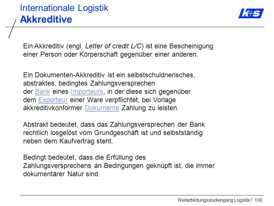 Akkreditive Internationale Logistik